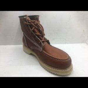 Men's work lace up boots brown